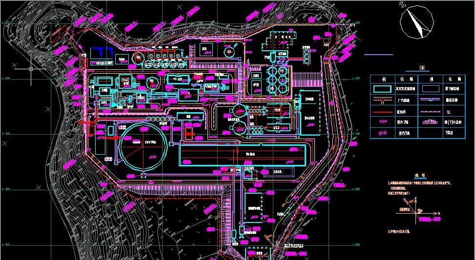 日产2000吨熟料预分解窑水泥厂总平面设计图,是cad平面设计图.图片