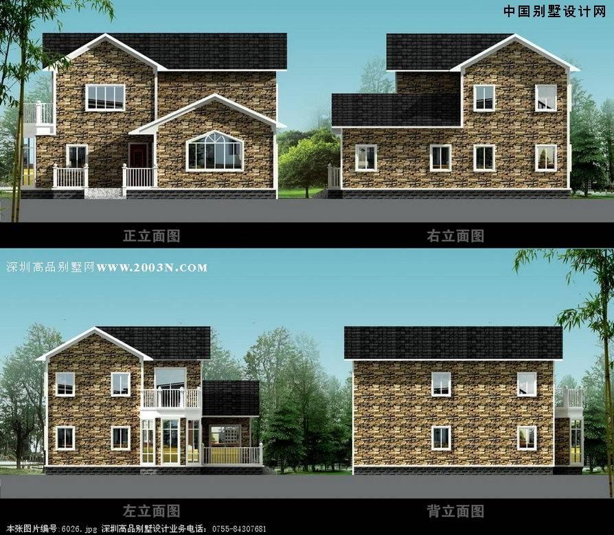 农村三间两层小别墅 三间两层平房设计图 两层小别墅设计图