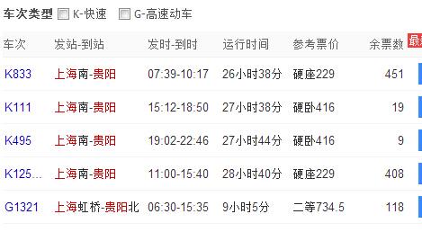 上海到贵阳自驾路线