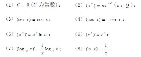 由导数求原函数表示