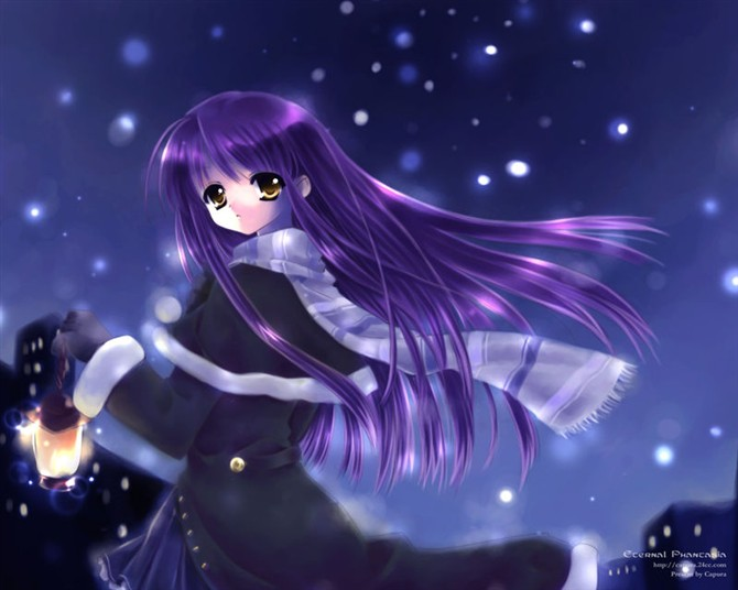 谁有紫色头发 穿着古装