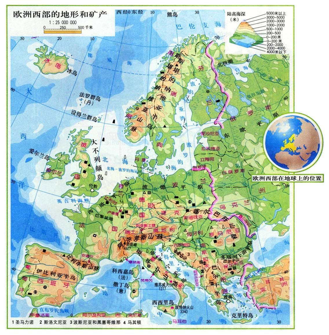 欧洲地图全图大图_欧洲冰岛高清中文地图