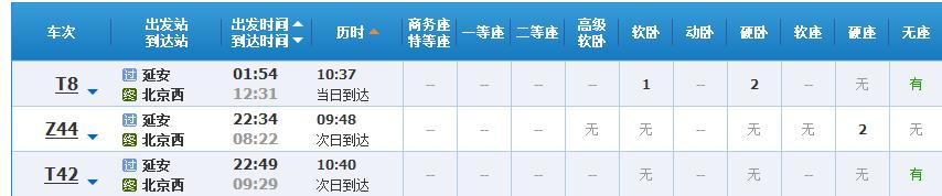 延安到北京旅游