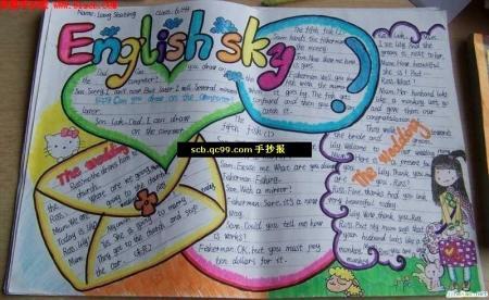小学生英语手抄报图片