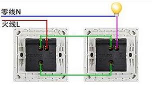 如何选购【带灯按钮开关】实际二地控制一灯,及实际接线图图片