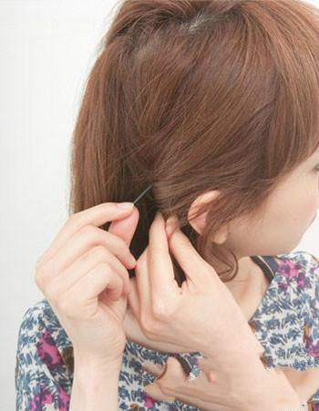头发稍短如何扎头发简单好看图解图片