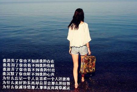 求一张海边女生背影的图片