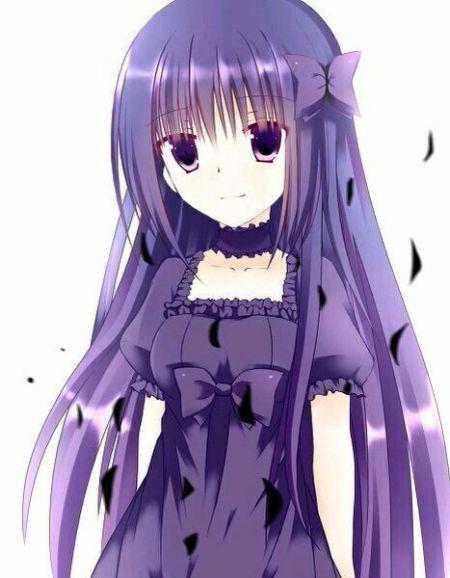 有没有暗紫色头发的女动漫人物?(必须是暗紫色)图片