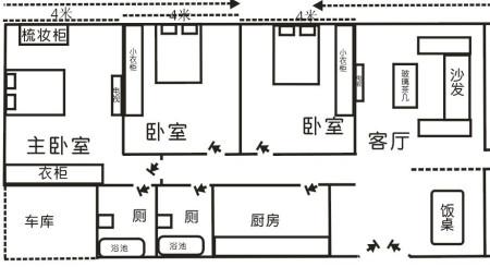 求一栋120平方左右的3层漂亮点农村小别墅的平面设计图,效果图和施工图片