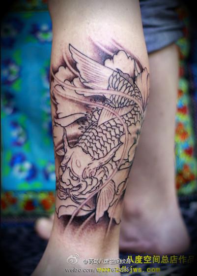 谁有好看的般若鱼 纹身图片