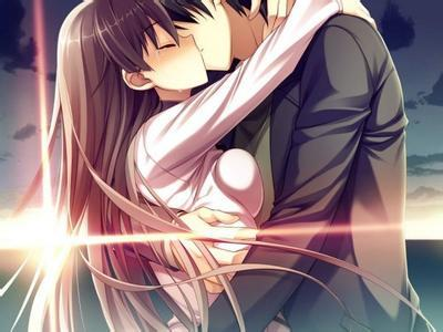 求一张动漫情侣接吻的图