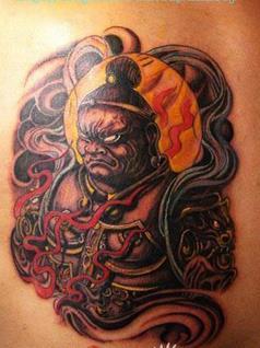 """纹身是山东付海林的创作手稿巨灵神,原型是《西游记》""""孙悟空大闹天宫图片"""