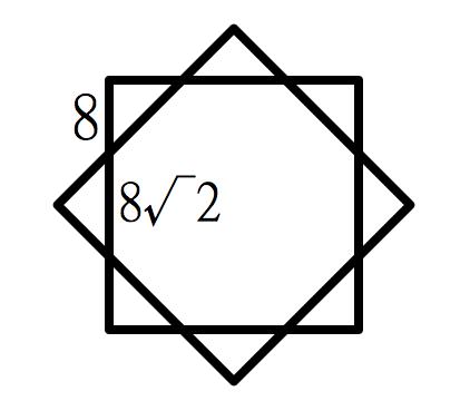 八个等腰直角三角形边是8米,面积是多少图片