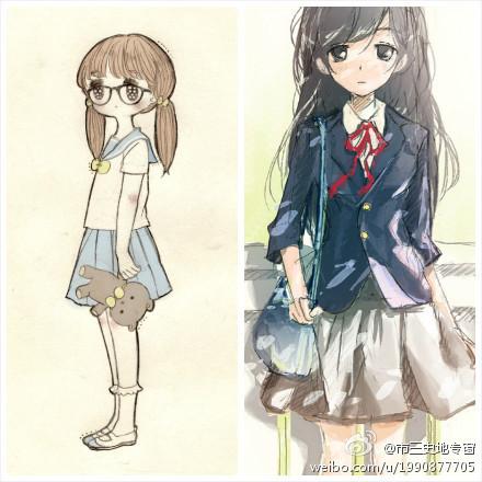 求日本动漫女生的校服