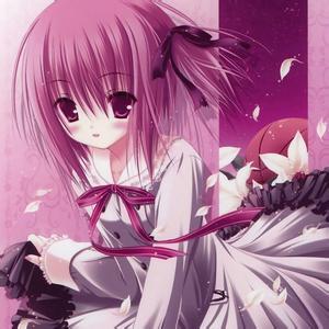求粉红色头发动漫少女图片
