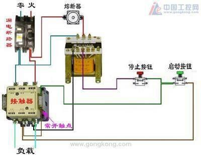 一台电机停机,另一台电机延时自动停机的控制电路图图片