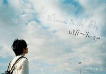 求一张男生仰望天空的动漫图片,我用来装扮以白色为背景QQ空间