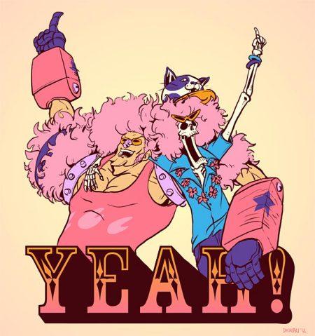 粉红色头发的 海贼王布鲁克 的图图片
