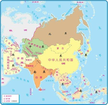 亚洲的国家_现在亚洲除了蒙古国还有哪些国家是以前中国人建立的或者是独立的?
