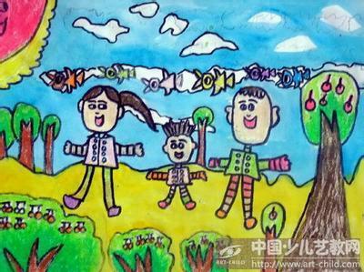 儿童画冬天的一幅画