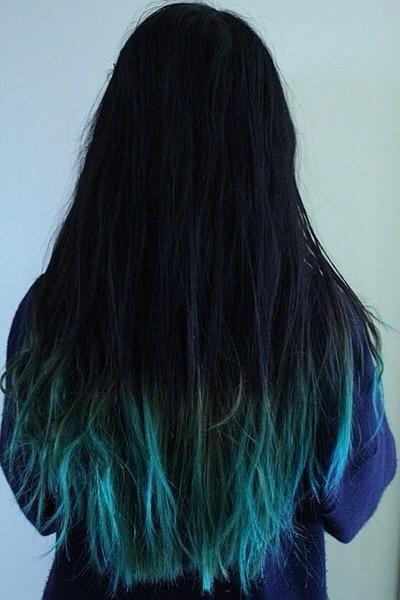想染头发,染什么颜色都必须给先漂白吗,想从头发中间染那种渐变.图片