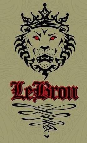 谁能发给我一个勒布朗詹姆斯的皇冠和狮子头高清logo?图片