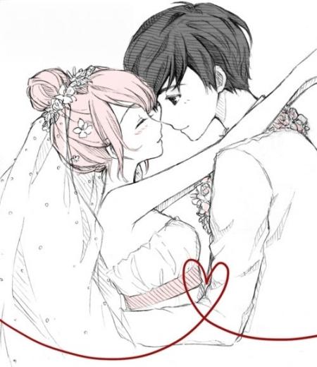 情侣拥抱动漫图片_