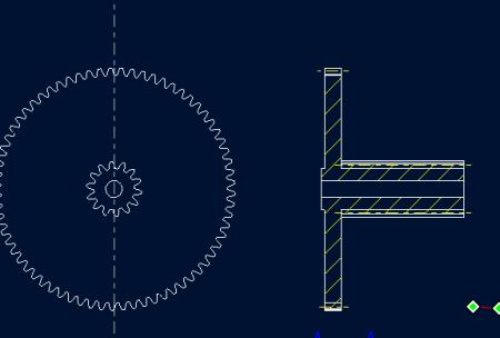 proe 齿轮国际标准的2D工程图如何绘制图片