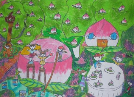 关于桃子的科幻画名字图片