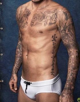 贝克汉姆纹身图案大全图片