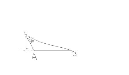 已知钝角三角形一个角,一条边和高,怎么求两外两条边图片