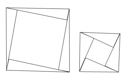 有4个相同的非等腰直角三角形,每个三角形的两条直角边的长都是大于1图片