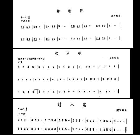 24孔口琴入门简谱图片