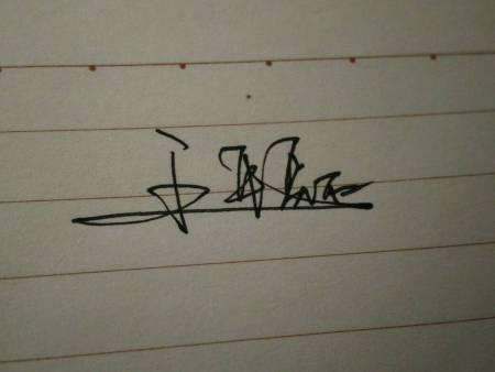 王平这个名签名