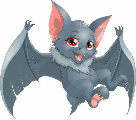 求蝙蝠可爱的表情图(●—●)越多越好图片