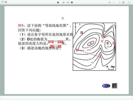 ��Ѐ����vl_这张图中第2题,d处的海拔是多少米,陡崖的高度为什么要这样计算?