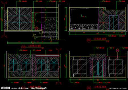 求咖啡厅cad设计图纸,各层平面图,各立面图.