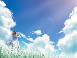 纯美蓝天白云ppt背景29张图片