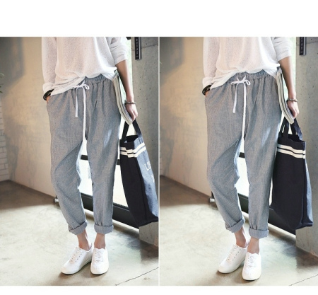 腿粗的女生穿什么样裤子显瘦啊