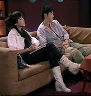 靴子爱情公寓长靴白靴子