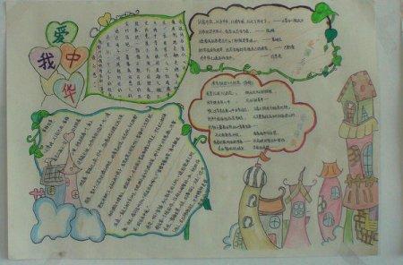 二年级语文手抄报怎么办图片