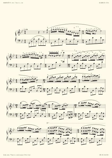 请大家把(梦中的婚礼)的钢琴谱和图片