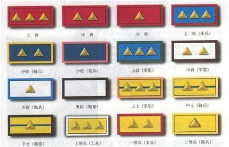 美军军衔 中国人民解放军军衔 美军军衔英语 部队军衔等级排名