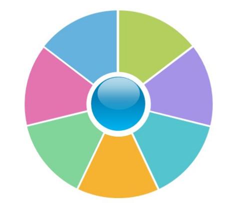 ppt画扇形组成圆,谁知道这个图在ppt中怎么画出来图片