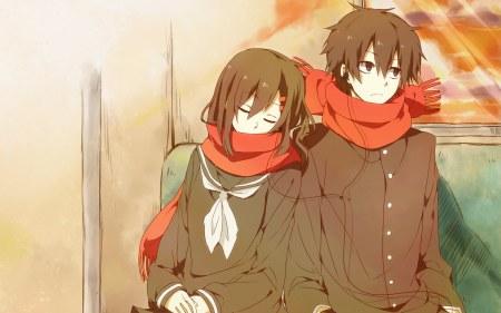 动漫)关于ayano和shin的一对情侣头像的shin=图片