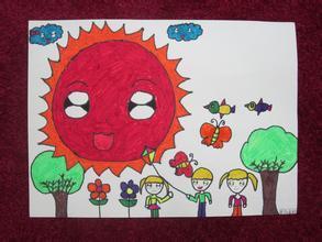阳光下成长绘画作品_百度知道图片