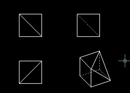 就是一个正方形,切掉一个三角形.图片