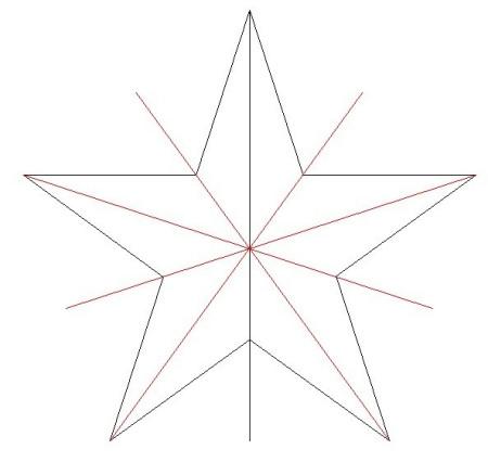 五角星崆不是轴对称图形图片