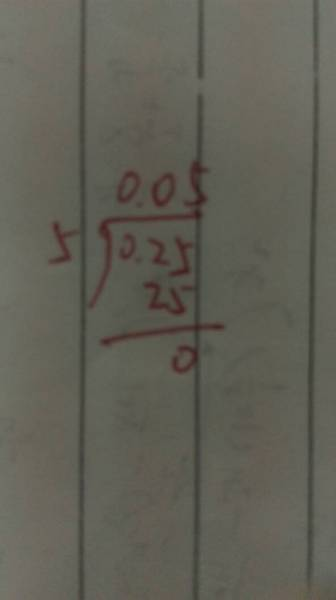0.25除以5竖式图片