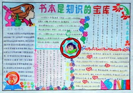读书小报设计4--镇江市桃园中心小学; 镇江市桃园中心小学;; 读书手抄图片